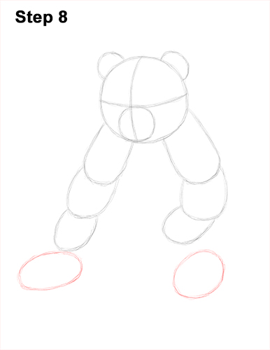 How to Draw Cute Giant Panda Bear Sitting 8