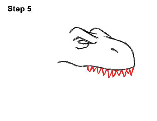 How to Draw Angry Cartoon Tyrannosaurus T. Rex Dinosaur 5