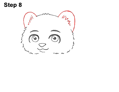 Draw Cartoon Mini Little Tiger Cub 8