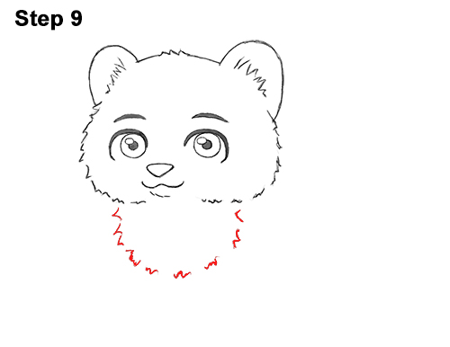 Draw Cartoon Mini Little Tiger Cub 9