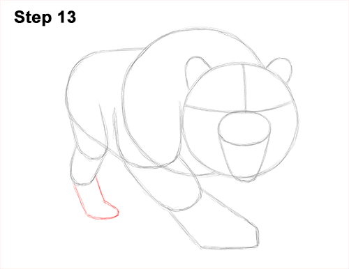 How to Draw a Mean Tiger Roaring Growling Stalking 13