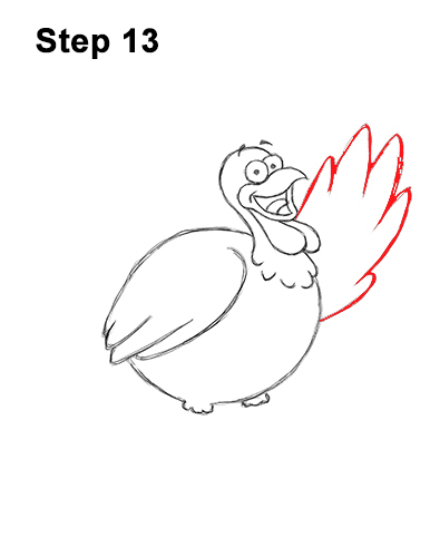 How to Draw a Thanksgiving Funny Turkey Cartoon 13