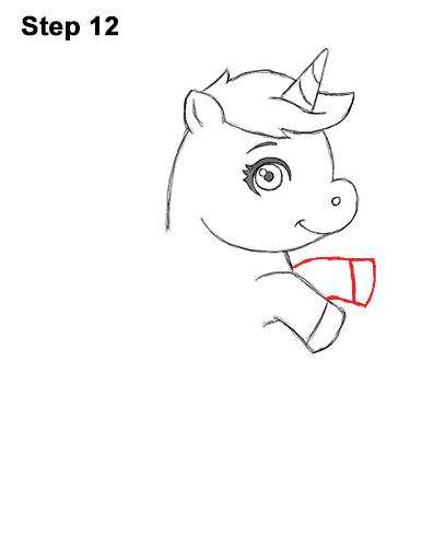 How to Draw a Cute Little Mini Chibi Cartoon Unicorn Horse Pony 12