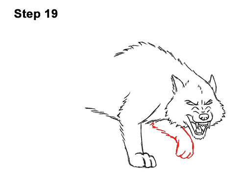 Draw Angry Mean Snarling Cartoon Wolf 19