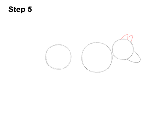 How to Draw a Grey Timber Wolf Running Hunting 5