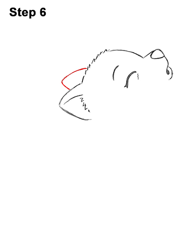 How to Draw Cute Little Cartoon Wolf Pup Cub Howling 6