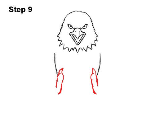 How to Draw Angry Cartoon Bald Eagle Flying Wings Talons 9