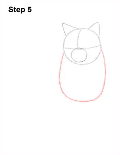 How to Draw British Blue Shorthair Cat Sitting 5