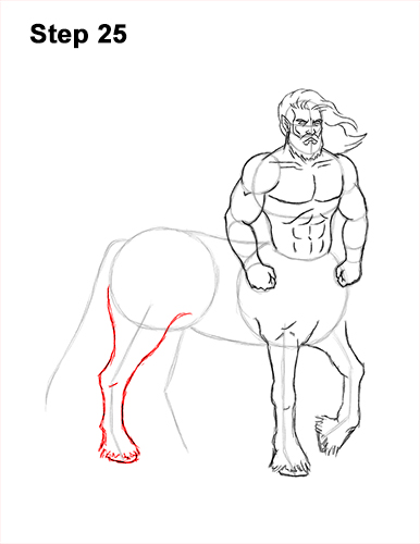 How to Draw a Centaur Horse Human Mythology 25