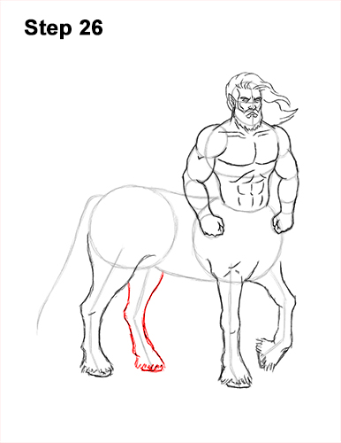 How to Draw a Centaur Horse Human Mythology 26
