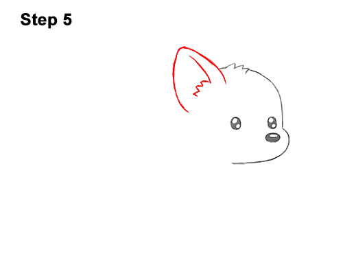 How to Draw Cute Cartoon Corgi Puppy Dog Chibi Kawaii 5