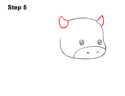 How to Draw a Cow (Cartoon) VIDEO & Step-by-Step Pictures