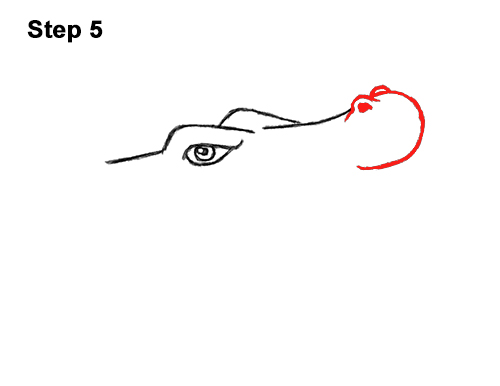 How to Draw Angry Cartoon Crocodile Alligator Smile 5