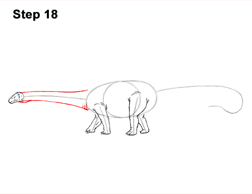 How to Draw Dinosaur Diplodocus Sauropod 18