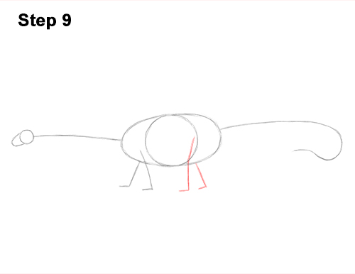 How to Draw Dinosaur Diplodocus Sauropod 9