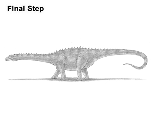 How to Draw Dinosaur Diplodocus Sauropod