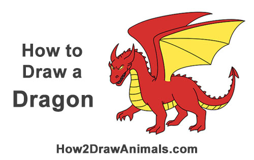 How to Draw Cool Angry Mean Cartoon Dragon