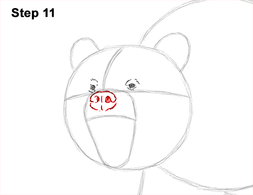 Draw a Growling Grizzly Bear Walking 11