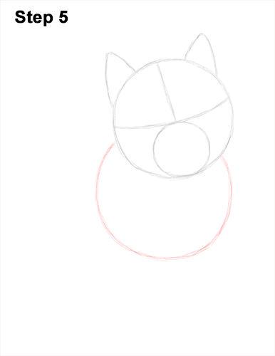 Draw Husky Puppy Dog 5