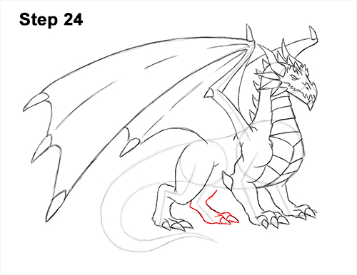 How to Draw a Cold Winter Ice Dragon 24