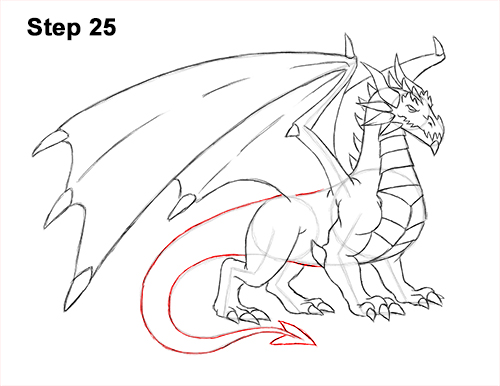 How to Draw a Cold Winter Ice Dragon 25