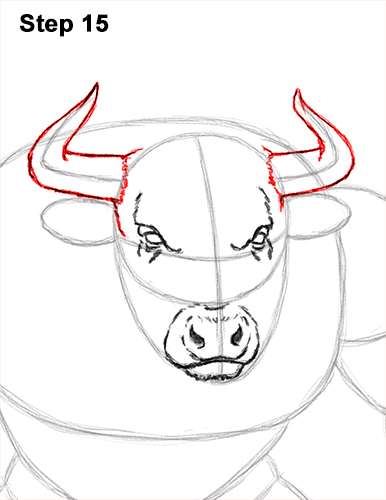 How to Draw Cool Angry Minotaur Bull Horns 15