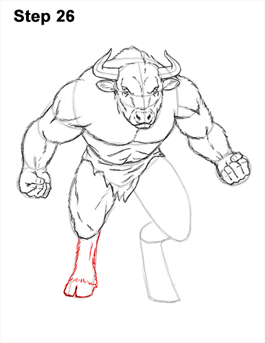 How to Draw Cool Angry Minotaur Bull Horns 26