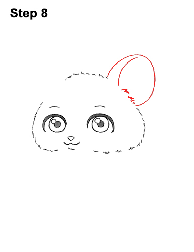 Draw a Cute Chibi Little Mini Cartoon Mouse 8
