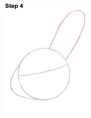 How to Draw Cute Bunny Rabbit Head Face Portrait 4