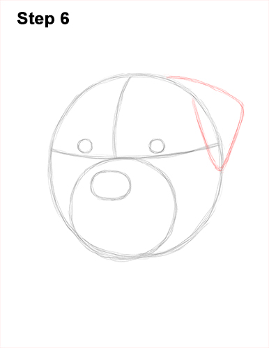 How to Draw a Rottweiler Dog Head Portrait Face 6