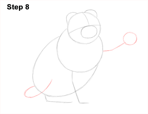How to Draw a Scottish Fold Cat Playing Pawing Swiping 8