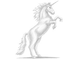 How to Draw a Unicorn Horse Rearing