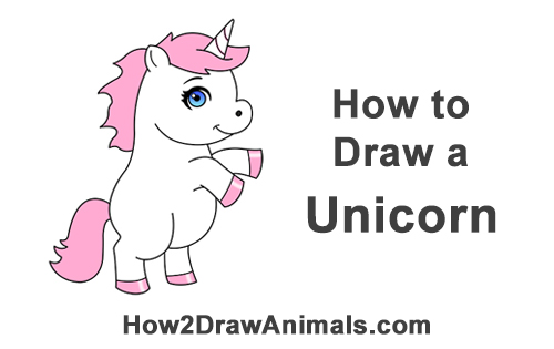 How To Draw A Unicorn Cartoon